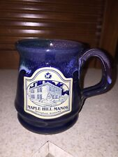 "Deneen Pottery Mug ""Maple Hill Manor"" New Hampshire Blue Drip Usa Springfield Ky"
