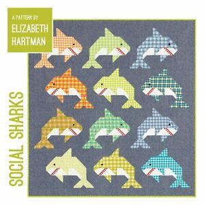 Quilt Pattern by Elizabeth Hartman - Social Sharks