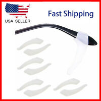 4 Pair Clear Slip Glasses Ear Hooks Tip glasses Grip Temple Holder Silicone US