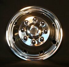 Ford E350 E450 Snap on Front Wheel simulators rv 8 lug 8 hole stainless steel