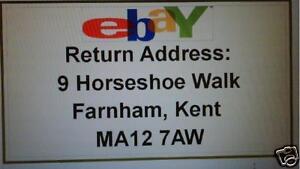 260 Ebay Logo  printed return address labels
