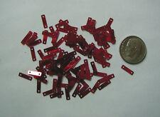 FAB RUBY RED METALLIC RECTANGULAR DANGLE 9mm VINTAGE SEQUINS LOT