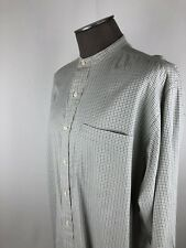 Polo Ralph Lauren Mandrin Collar Green Check Button Down Shirt Mens SZ M