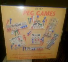 Chadwick Peg Games Set Of 7 Solid Tic Tac Toe Galaxy Jump Peg & others