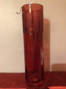"""Partylite Teelichtlampe Rot für Teelichter Glas """"Fiesta"""" Teelicht Kerzen Halter"""