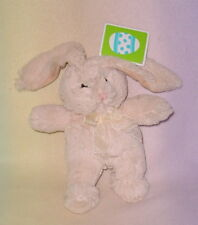 TAN BUNNY *  9 INCH * LONG EARS * PINK NOSE * NEW *