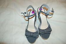 NWOBTommy Hilfiger Fabric Cork Platforms Wedges Sandals Size 8 1/2