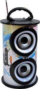 Tragbarer Radio - Dosenform - Mobile Anlage 15 Watt Bluetooth -AUX- Lautsprecher