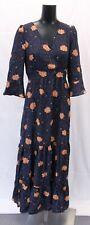 Nasty Gal Women's Sweewe Floral Polka Dot Maxi Dress SV3 Navy Large NWT