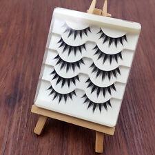 5 Pairs Japanese Cosplay Fake Eyelashes Natural Thick Long False Eye Lashes