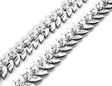 Ladies  Metal Chain Belt Womens Silver Diamante Rhinestone Waist Charm Fashion