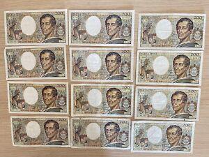 Série de billets de 12x200 Francs très intéressante série de numéros 55-57 LOT