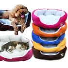 5 Colours Pet Dog Puppy Cat Nest Soft Fleece Bed House Plush Cozy Mat Pad M/L