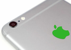 Green Color Changer Overlay for Apple iPhone 6 and 6 Plus Logo Vinyl Decal