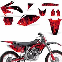Decal Graphic Kit Honda CRF 450 R Dirt Bike Sticker Backgrounds 05-08 ICE RED