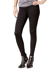 New Hue Women's Floral Embossed Full Length Leggings Black Size M
