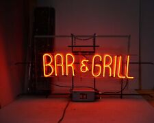 Antique bar & grill bright neon light collectible man cave 1930s + restroom sign