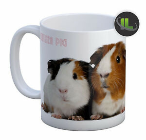 Personalised Guinea Pig Mug Cavy cup. Customise with your own text. FOC. IL717