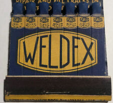 ~Vintage 1950s WELDEX Feature-Matchbook~New Cond.