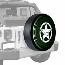 Oscar Mike Star - Painted  Tire Cover - Jeep Wrangler - Black Forest