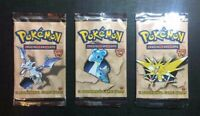 Pokemon Booster Packs Eng Fossil 1st Edition  3 packs EMPTY VUOTI