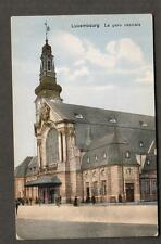 unmailed Harles post card Luxembourg La gare Centrale