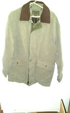 Rainforest Coat Jacket Men's L lite olive green/tan With Removable Lining /coler