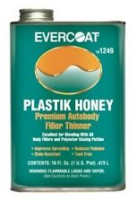 Fiberglass Evercoat Plastik Honey Plastic Auto Body Filler Thinner- 1 Pint 1249