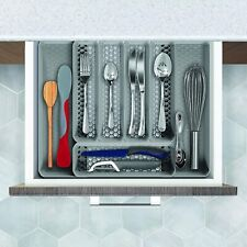 5 Divisores Bandeja Cubiertos almacenamiento Cocina Moderna y Fácil Limpiar