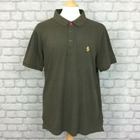 BNWT LUKE 1977 MENS UK XXL KHAKI WILLIAMS SHORT SLEEVE POLO SHIRT HOLIDAY SUMMER
