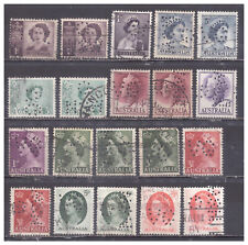 Australia Perfins used collection of 20
