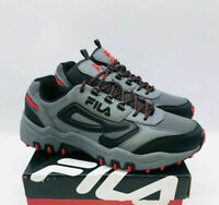 FILA Men's Reminder Lace Up Sneakers Grey / Black / Red - Pick Size