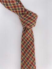ETRO MILANO Beige Wool and Silk Check Mens Tie