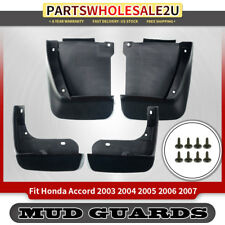 4x Front & Rear Splash Guard Mud Flaps for Honda Accord 2003 2004 2005 2006 2007