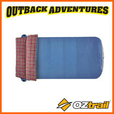 OZTRAIL OUTBACK COMFORTER KING SINGLE SIZE ONE PERSON SLEEPING BAG 0 DEGREE