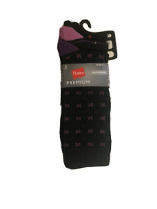 Hanes Premium Men's 3 pack Dress Casual Crew Flat Knit Socks, 6-12 New