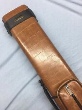 Vincitore Embossed Tan Crocodile  Leatherette Cue Case For 3 Butts 5 Shafts 3x5
