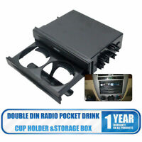 Universal Car Auto Double Din Radio Pocket Kit Drink Cup Holder Storage Box