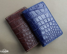 Alligator Card Holder, Handmade Leather Wallet, Custom Leather Wallet