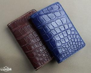 Alligator Card Holder, Handmade Leather Wallet, Custom Leather Wallet