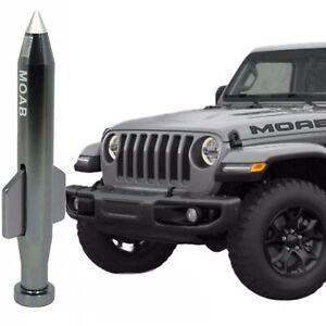Gunmetal Mother of All Bombs MOAB Bullet Antenna For Jeep Wrangler & Gladiator