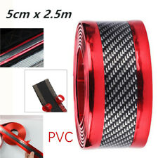2.5m*5cm Middle-Carbon Fiber Style Car Door Sill Scuff Pedal Protector Strip PVC