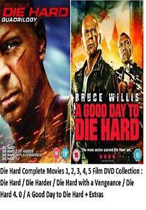 DIE HARD 1-5 DVD COMPLETE COLLECTION ALL 1 2 3 4 5 Film Movie Original UK Releas
