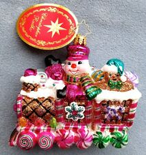Christopher Radko Christmas Ornament Sweet Ride Gingerbread Candy Train 1018388