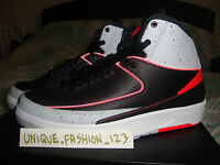 NIKE AIR JORDAN II 2 RETRO BLACK INFRARED 23 GS US 4Y UK 3.5 EU 36 BG 6 4 FEAR 3
