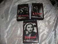 HITCHCOCK COLLECTION 3 VHS SECRET AGENT THE LADY VANISHES BLACKMAIL NEW RARE