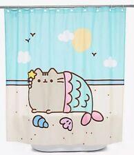 """Pusheen the Cat 66"""" x 69"""" Mermaid Purrmaid Cat Shower Curtain"""