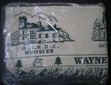 Wayne County Ohio Wooster - Vintage Throw Blanket - New In Original Package Nip