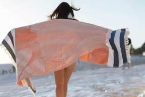 Beach Theme Sand Free Absorbent 100% Cotton Ultra Soft Beach Towel
