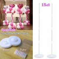 5Pcs/Set Balloon Column Stand Kit Base Tube Ballon Display Wedding Party Supply
